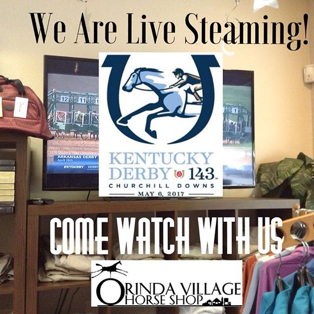 Come watch with us! #kentuckyderby #live #bigscreen