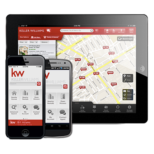 put the mls in your pocket - Search properties, review photos, check details and save listings on the go with the Keller Williams property app.  Click below to get it on iPhone or Android.