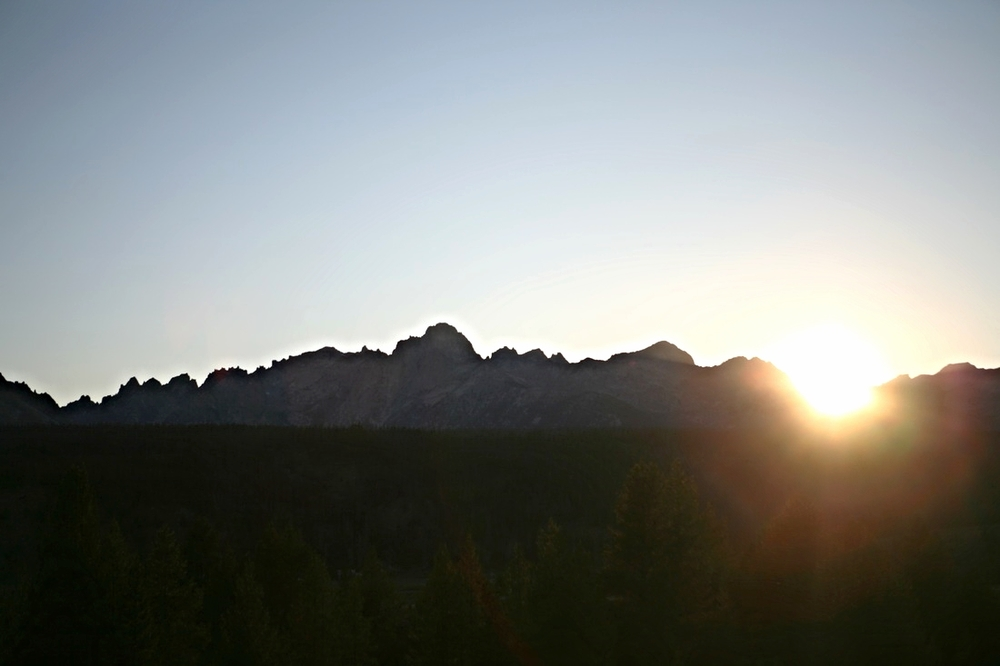 Sawtooth Mountain Sunset