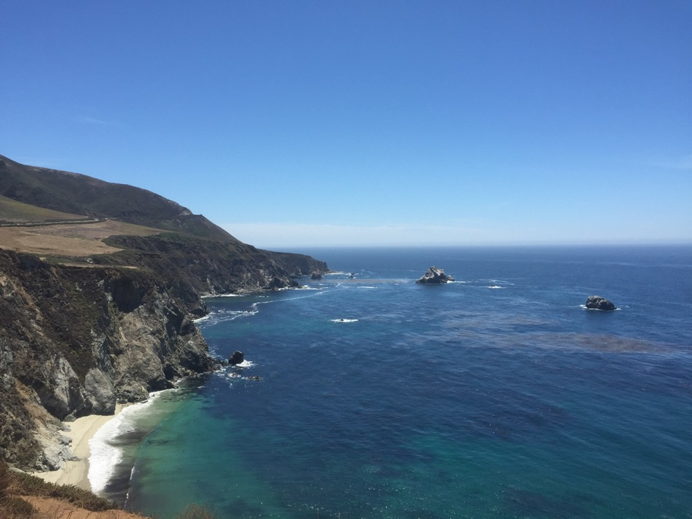 The drive through Big Sur.