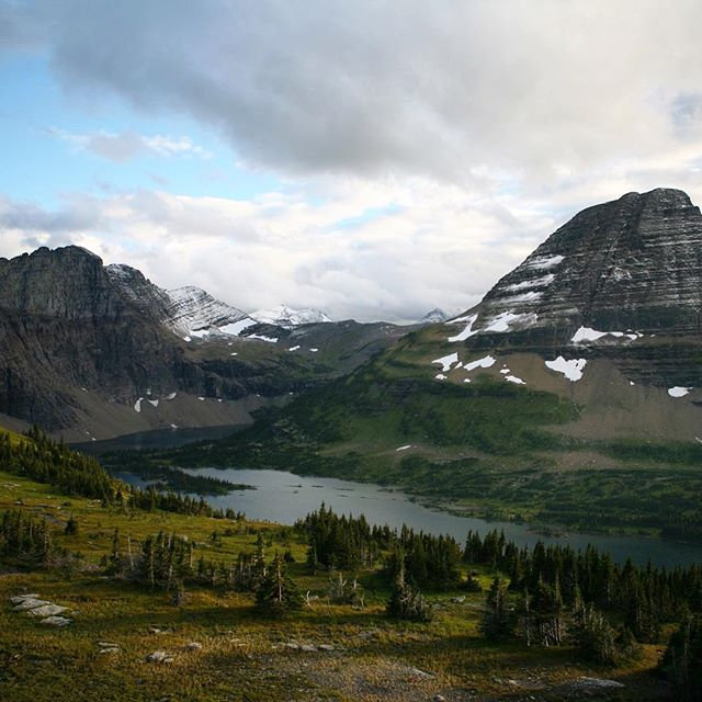 Hiking to Hidden Lake in @glaciernps at dusk was one of the most perspective-inducing moments of my life. There's no way to prepare for how small these mountains will make you feel. For me, that perspective provided so much relief from the day to day pressure I put on myself.  #politelywild