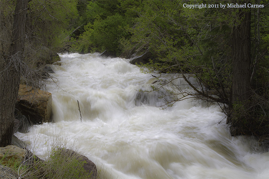Spring thaw in Big Cottonwood Creek