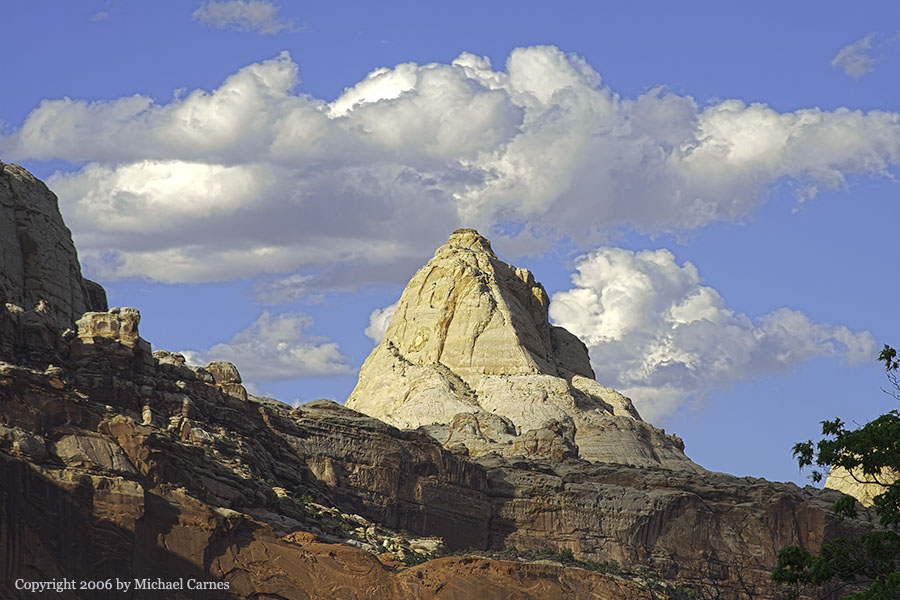 Pastel-colored peak at Capitol Reef