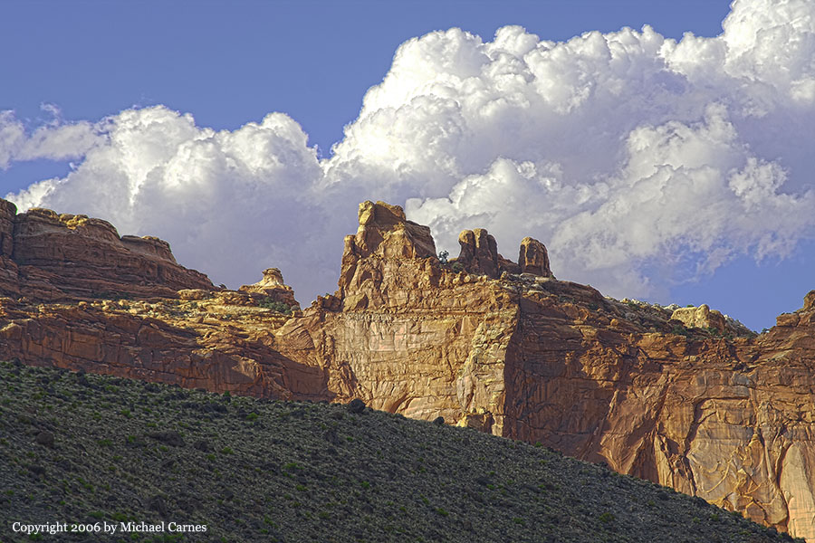 A small castle at Capitol Reef