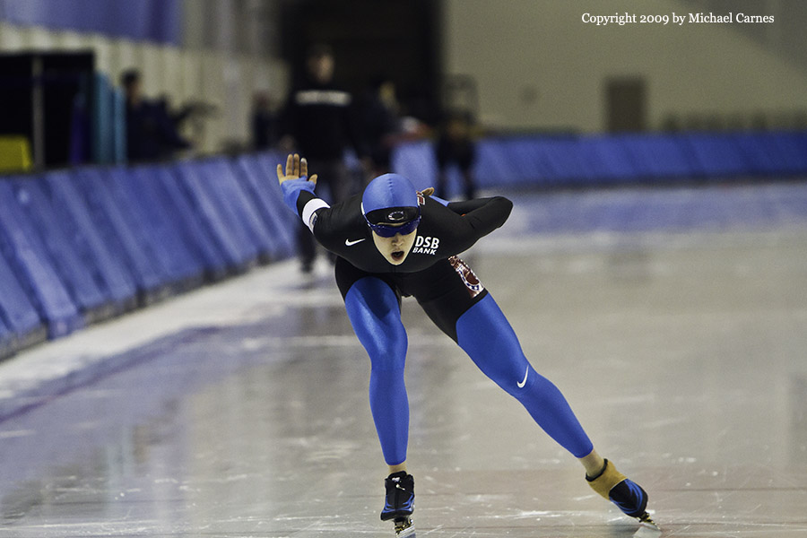 Long track speed skater, U.S. Nationals 2009