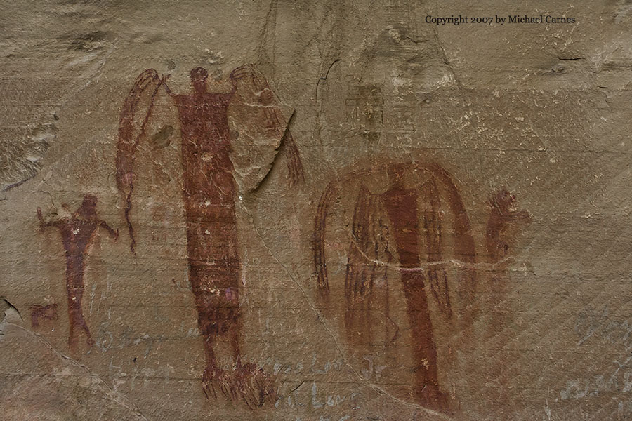 A pictograph created by the Barrier Canyon people, around 2000 years ago