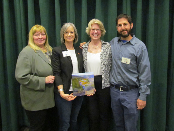 SERCAL President and 2016 Conference Chair, Dave Shaw of Balance Hydrologics, presented the 2016 SERCAL President's Award for Outstanding and Creative Collaboration toward Ecological Restoration to plenary speakers Lisa Wallace, Kathy Eagan, and Joanne Roubique of the Truckee River Watershed Council.