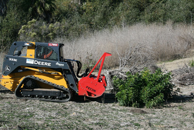 Clearing brush prior to the MTBA March 15 deadline. The compost remained onsite to compost, and was incorporated into the soil after grading.