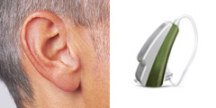 Receiver-in-the-Ear Hearing Aid (Available in Rechargable):