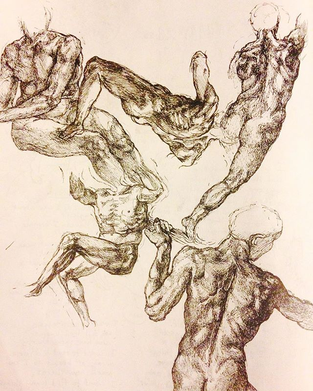 I should be studying for the gre but instead I drew some naked dudes  #michelangelo #sketch #sketchbook #drawing #anatomy #figuredrawing #butts