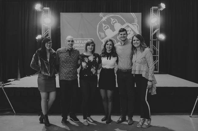 From left to right: The Startup Edmonton team: Stephanie, Warren, Lauren, Shay, Bryan and Tiffany. Thank you for giving us the opportunity to support all of your hard work!