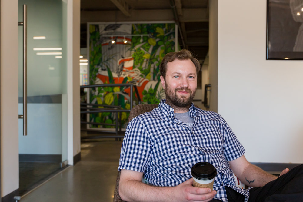 Sam Pillar, Jobber Co-Founder & CEO, in their Edmonton Headquarters on Jasper Avenue.