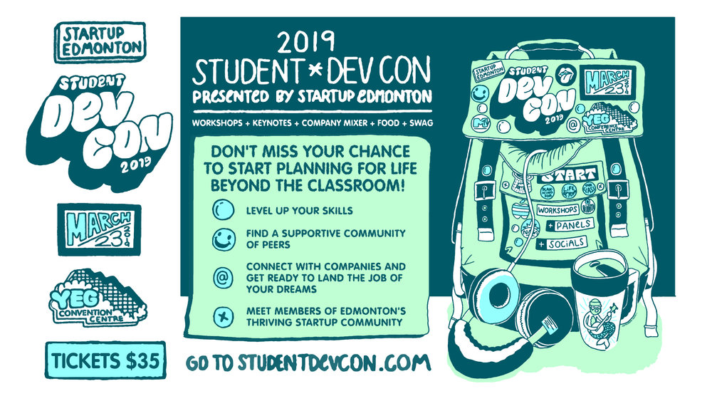 Don't miss out on Student DevCon 2019 on March 23rd at the Edmonton Convention Centre.