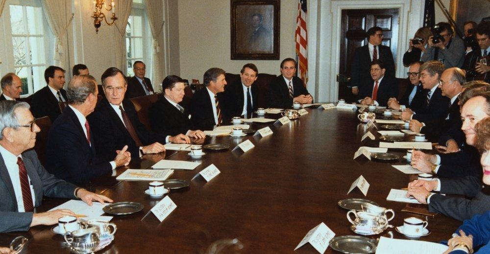 history.com photo of George H.W. Bush Cabinet.jpeg