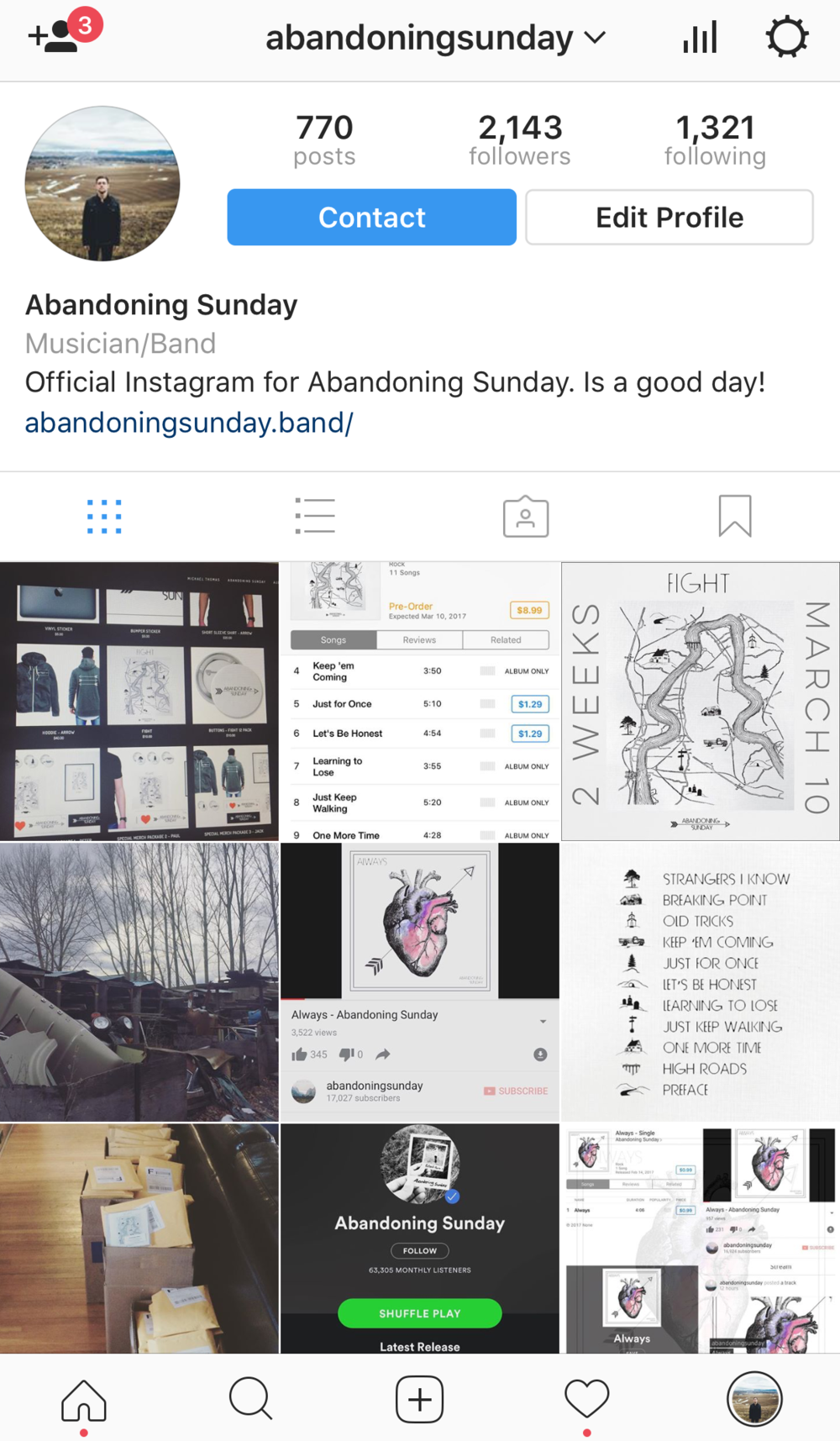 Follow     Click here to check out Abandoning Sunday on social media.