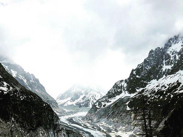 Glacier river. 🗻 . . . #chamonix #france #mountblanc #merdeglace #travel #wanderlust