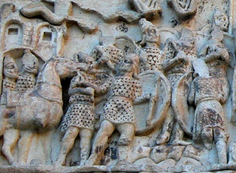Roman troops at an imperial address. Relief from the Arch of Galerius, Thessalonika, cAD298