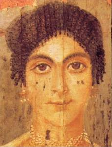 The ghost of a smile, at least... Mummy portrait from Roman Egypt, 2nd century AD