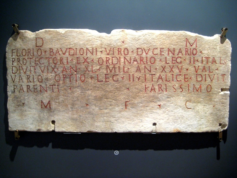 Florius Baudio Inscription