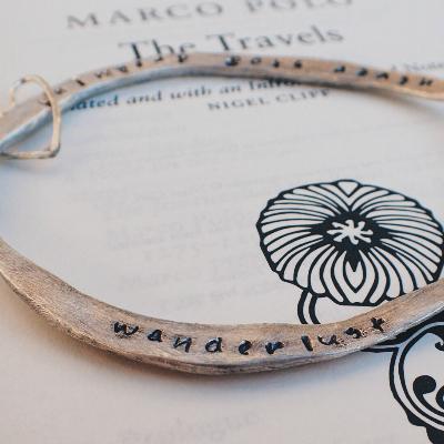 wanderlust travel bracelet