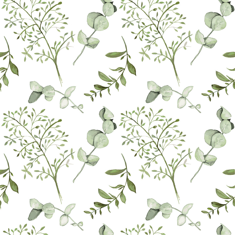 Green Leaf Pattern Design