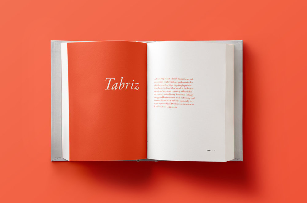 Double Take: Iran - book design, page layout, typography, branding