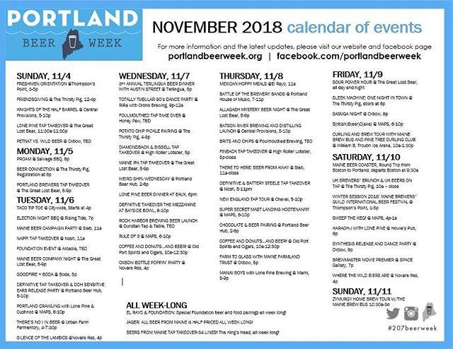 2018 calendar complete.