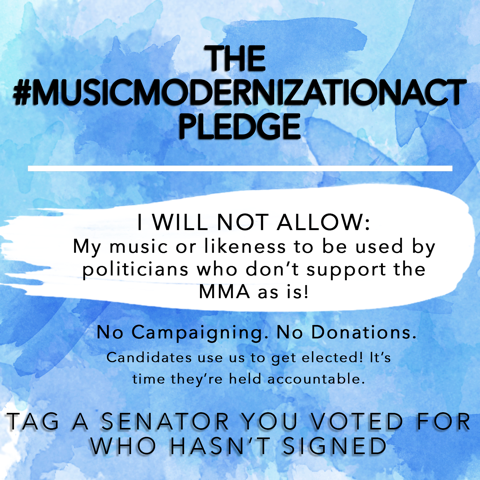 Ross Golan launched #MusicModernizationAct Pledge with this.  Feel free to share.