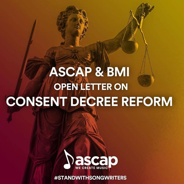 IMPORTANT- Don't let the MMA get derailed! The @ASCAP and @BMI consent decrees are nearly 80 years old were written for a different era. Read a open letter from #ASCAP CEO Beth Matthews & #BMI CEO Mike O'Neil on why consent decree reform is needed in the digital age. Link in bio #StandWithSongwriters