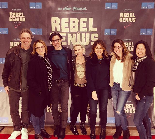 SONA occasionally leaves the war room. Tonight we went to support our own @matthewpuckett's fantastic new play (a musical about young Albert Einstein!) #RebelGenius. We're so proud of you Matthew!