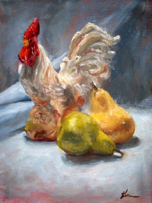Rooster and Pears