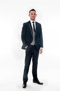 Black Slim Fit - Grey Trim