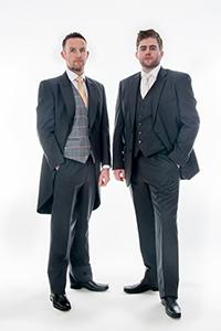 Charcoal Grey Herringbone 3 Piece Suit