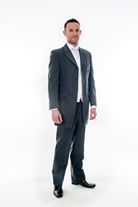 Charcoal Grey Prince Edward Suit