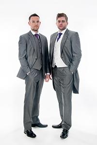 Grey Mohair 3 Piece Suit