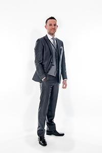 Granite & Black Fitted Suit