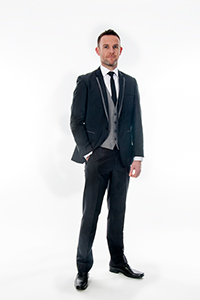 Black Slim Fit with Grey Trim