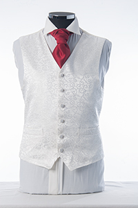Ivory Swirl Sheen Waistcoat