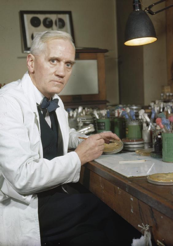 Alexander Fleming, the accidental life-saver UK official photographer/Wikimedia Commons (public domain)