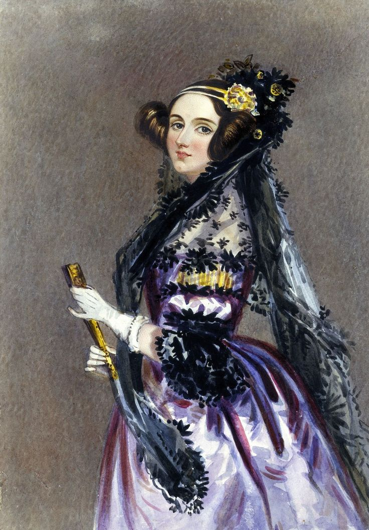 Ada Lovelace, the original programmer Alfred Edward Chalon/Wikimedia Commons (public domain)