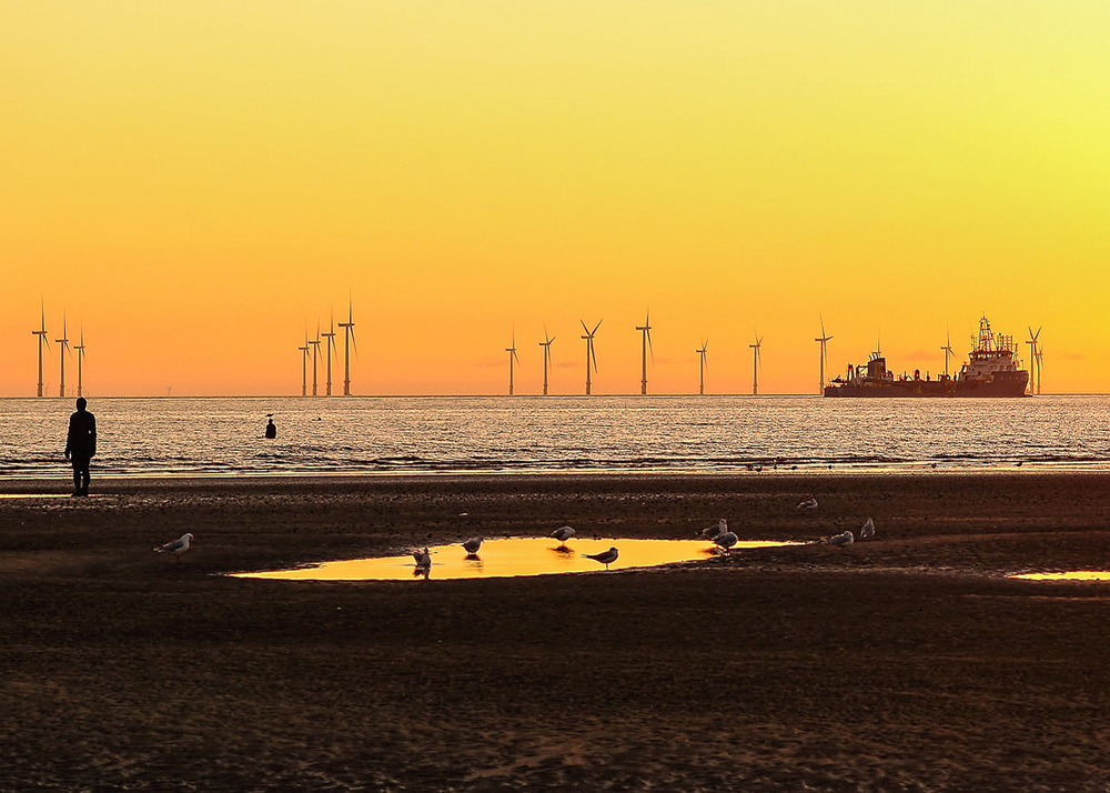 The Burbo Bank Offshore Wind Farm in the UK was developed in the mid-2000s. Beverley Goodwin/Flick (CC BY-SA 2.0)