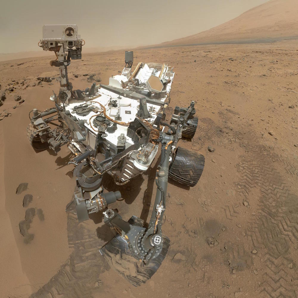 The Mars Curiosity Rover, taking a self-portrait on Mars.   NASA/JPL-Caltech  (public domain)