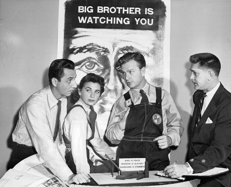A presentation of George Orwell's 1984 on the US television show Studio One in 1953. CBS Television/Wikimedia Commons (public domain)