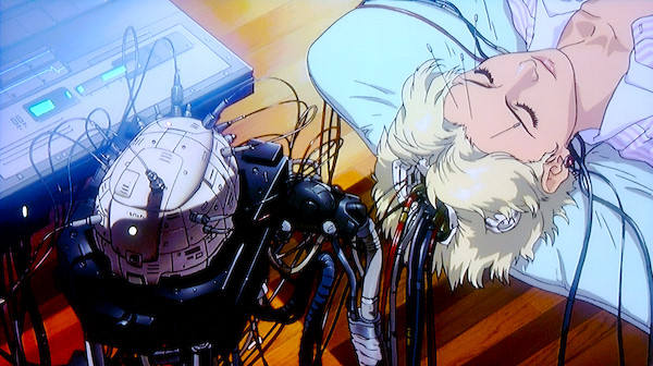 Still from 'Ghost in the Shell' by Mamoru Oshii, based on the manga by Masamune Shirow.   Source