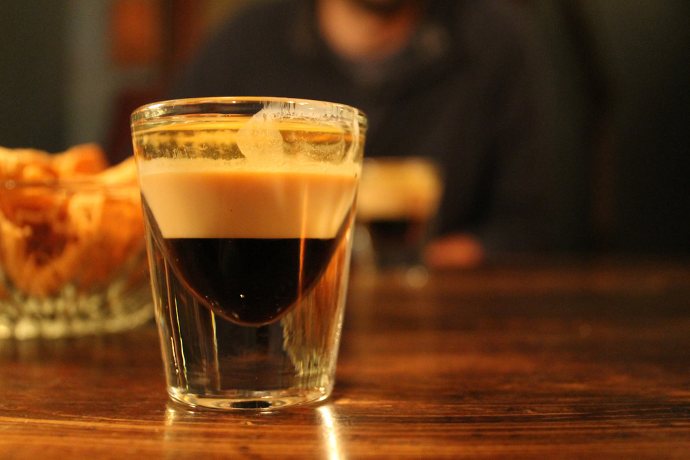 The B-52 shot, layered with kahlua, baileys, and triple sec based on the relative densities of each. Connie Ma/Flickr (CC BY-SA 2.0)