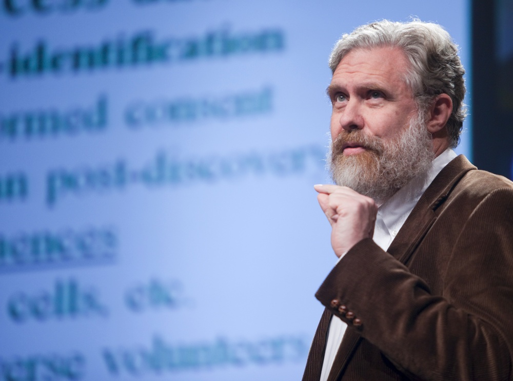 George Church, pictured here in 2009, founded the Personal Genomes Project to give researchers ready access to genome data. PopTech/Flickr (CC BY-SA 2.0)