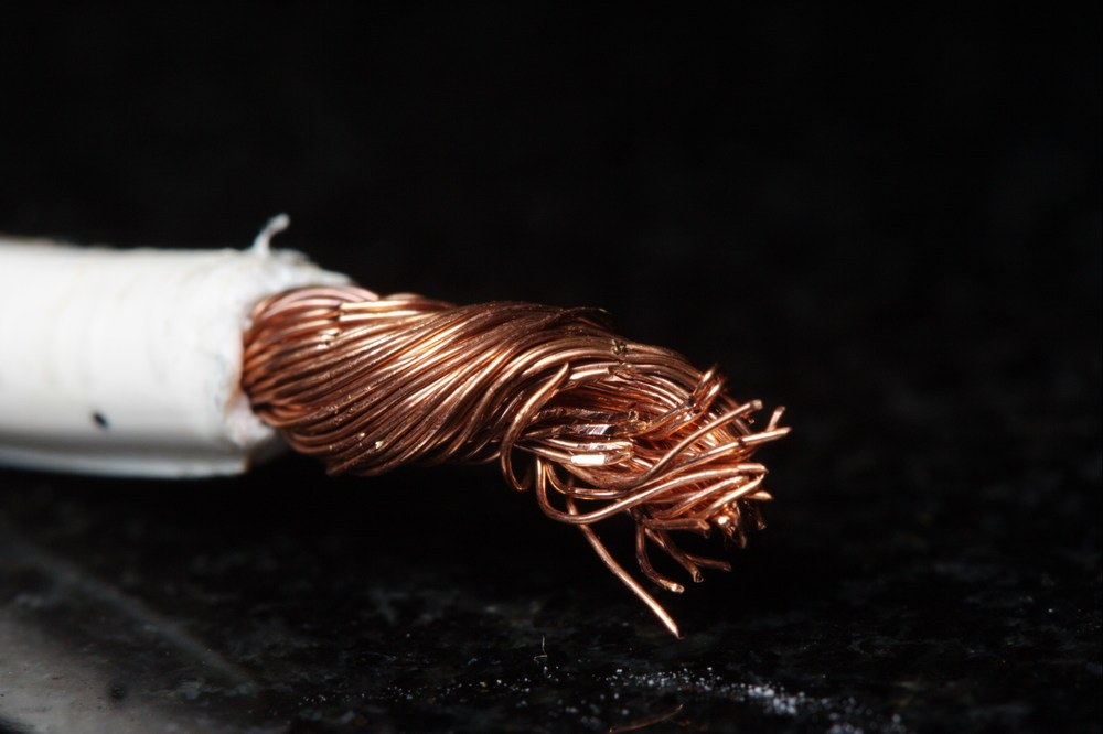 What may look like pure copper wire is actually riddled with impurities at the molecular level, a problem that carbon nanowires is free from. Sam-Cat/Flickr (CC BY-ND 2.0)