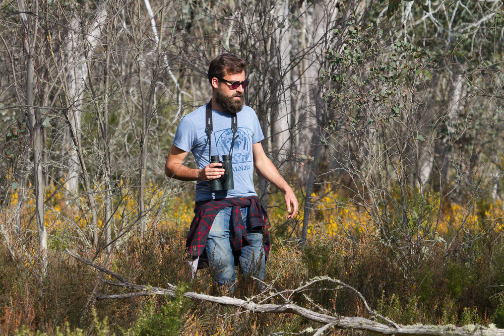 Rohan Long chasing birds in Victoria's Alpine National Park. © Heath Warwick (used with permission)