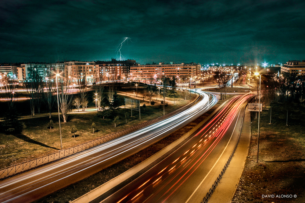 More than just light connects traffic to lightning.   David Alonso/Flickr  (CC BY-NC-ND 2.0)