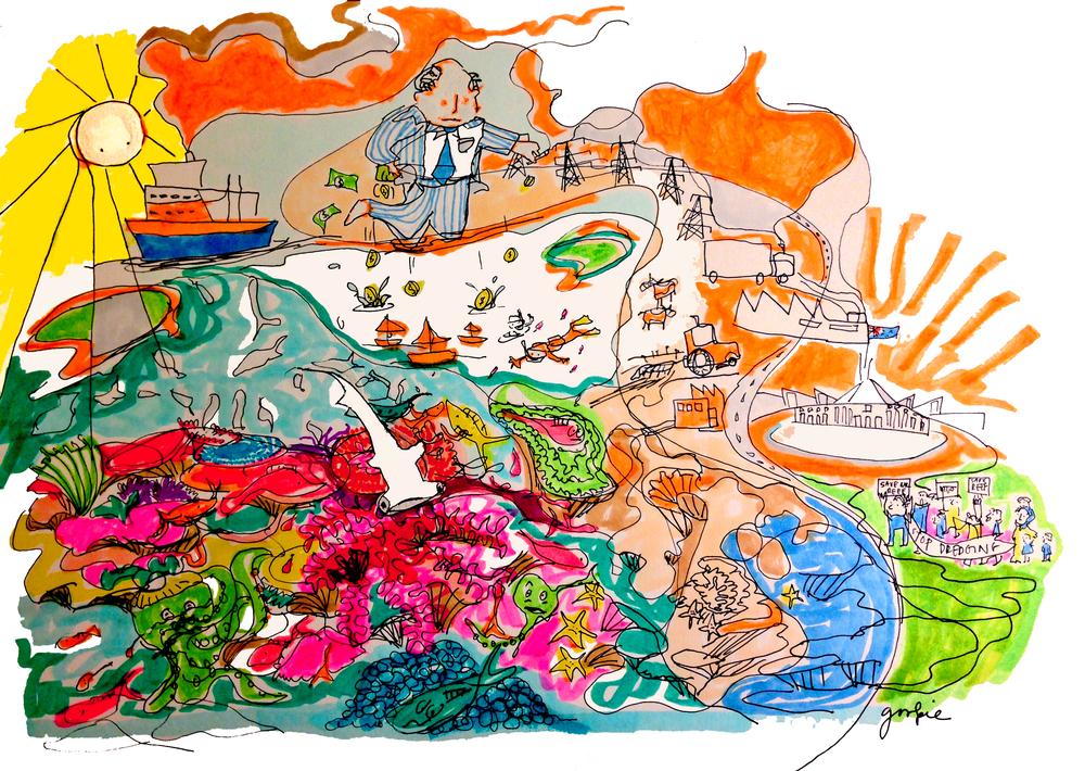 Illustration by Sarah Nagorcka